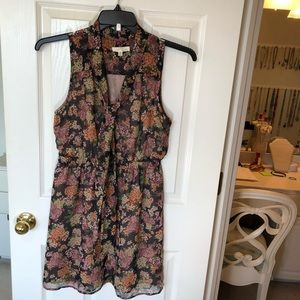 Lush by Nordstroms Floral no sleeve Dress size L